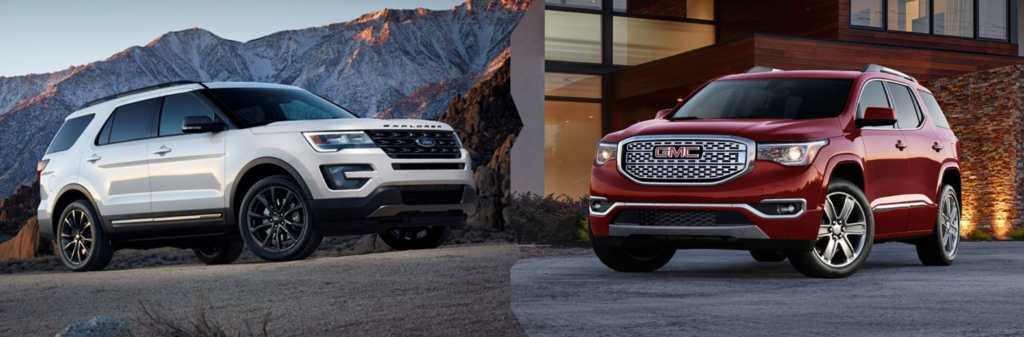 2017 Ford Explorer vs. 2017 GMC Acadia