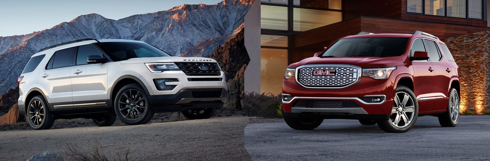 2017 Ford Explorer Vs Gmc Acadia